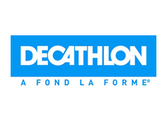 Logo decathlon, partenaire officiel de National de Pétanque