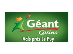 Logo geant casino, partenaire officiel de National de Pétanque