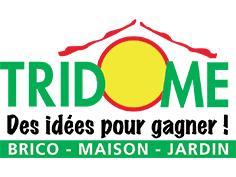 Logo Tridome, partenaire officiel de National de Pétanque