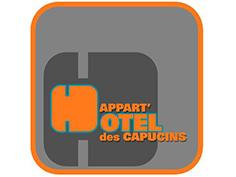 Logo appart hotel capucine, partenaire officiel de National de Pétanque